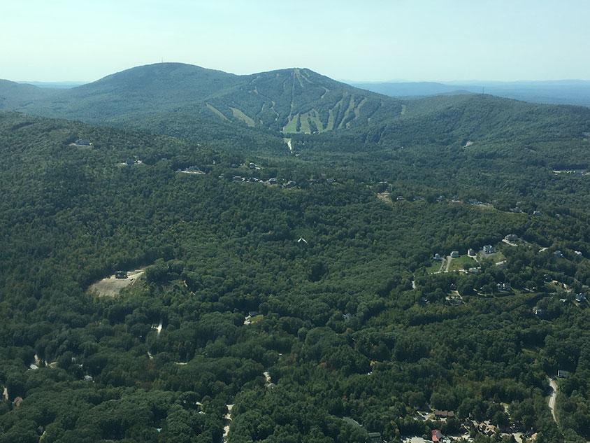 Belknap Mountains, NH. Gunstock and Belknap Mountains.