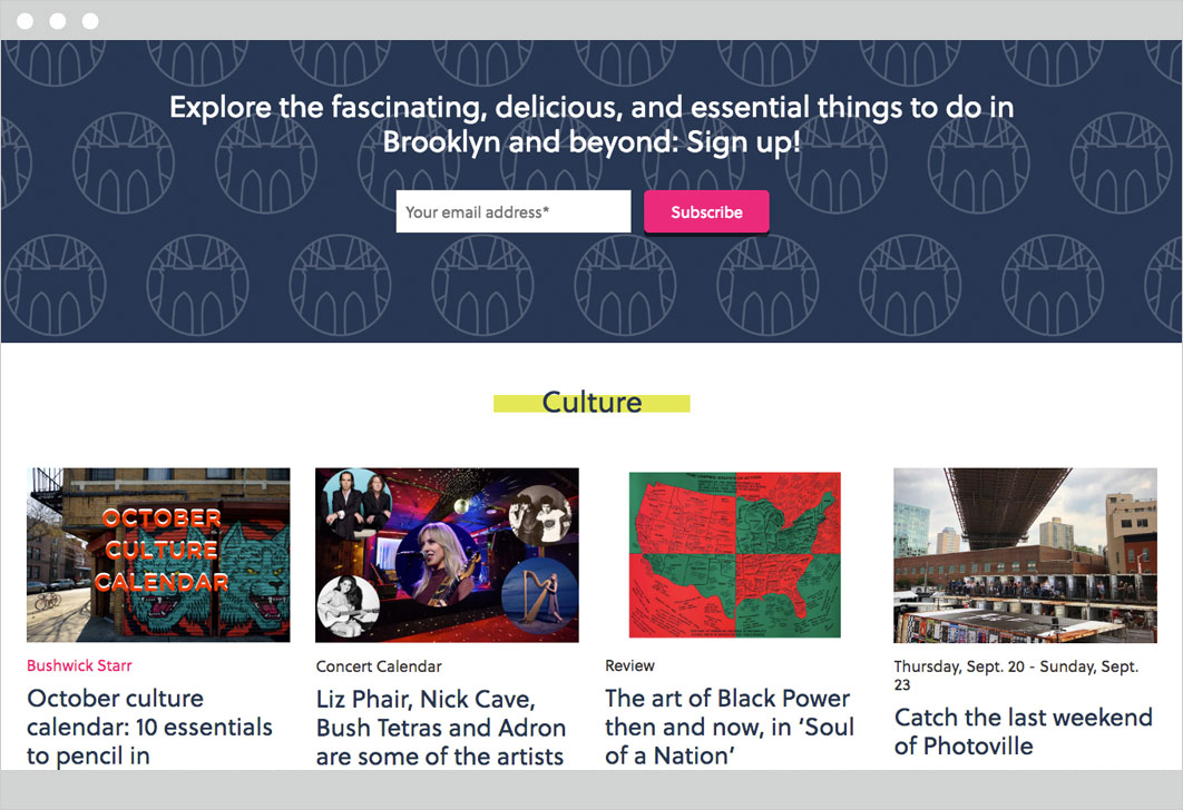 Brooklyn Based web image section 2